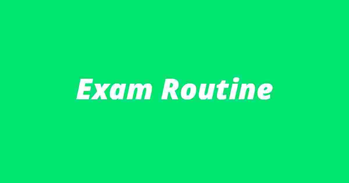 exam routine